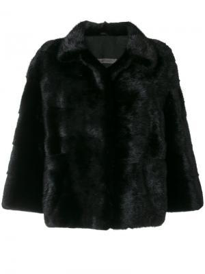 Короткое пальто Simonetta Ravizza. Цвет: чёрный