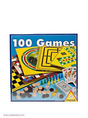 Игровой набор 100 в 1 Piatnik. Цвет: желтый