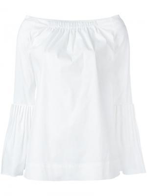Блузка с открытыми плечами Oscar de la Renta. Цвет: белый