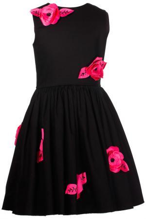 Платье LOVE MADE. Цвет: черный