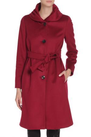 Пальто Marella. Цвет: бордовый