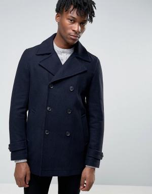 Burton Menswear Темно-синий бушлат. Цвет: темно-синий