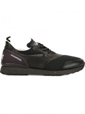 Кроссовки на шнуровке Hogan Rebel. Цвет: чёрный