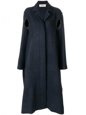 Пальто строгого кроя на пуговицах Ports 1961. Цвет: синий