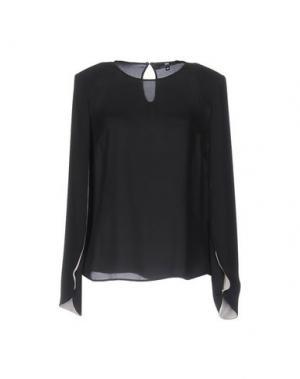 Блузка ELISABETTA FRANCHI. Цвет: черный