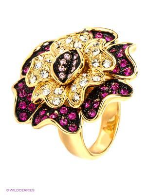 Кольцо Bijoux Land. Цвет: золотистый, бордовый