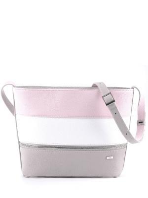 Сумка Esse. Цвет: серый, белый, розовый