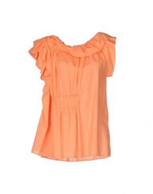 Блузка OBLIQUE CREATIONS. Цвет: оранжевый