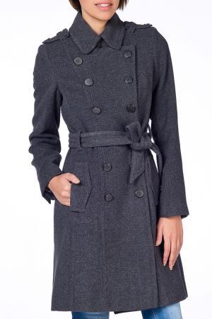 Пальто NARAMAXX. Цвет: серый