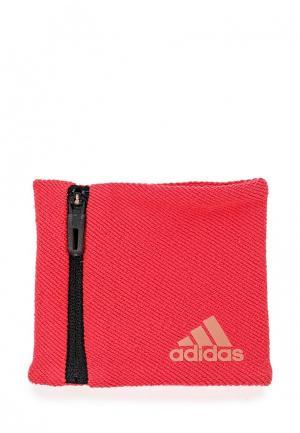 Напульсники adidas Performance. Цвет: розовый