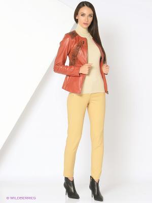 Кожаная куртка MONDIAL. Цвет: коричневый