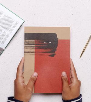 OHH DEER Эксклюзивный красный блокнот в минималистском стиле с принтом виде р. Цвет: мульти