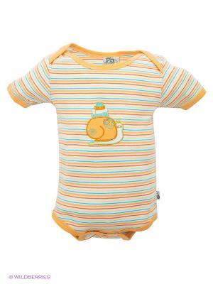 Боди FS Confeccoes. Цвет: белый, голубой, светло-оранжевый