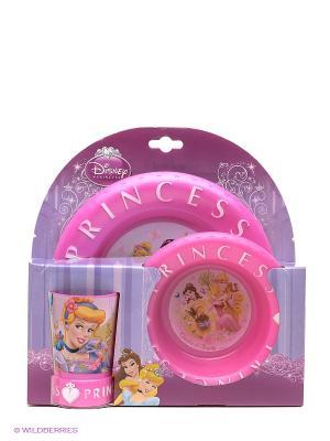 Набор посуды Принцессы Stor. Цвет: розовый, желтый, голубой