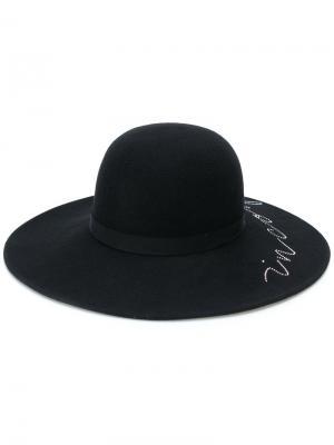 Шляпа-трилби с кристаллами Swarovski Eugenia Kim. Цвет: чёрный