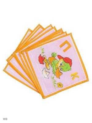 Набор платков носовых детских Римейн. Цвет: оранжевый, фиолетовый