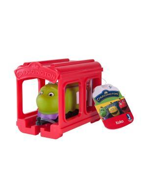 Chuggington набор Паровозик Коко с гаражом. Цвет: салатовый, красный