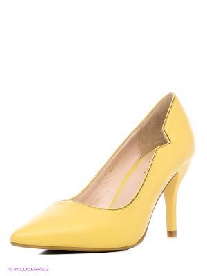 Туфли Moda Donna. Цвет: желтый