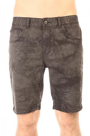 Шорты джинсовые  Soulsuckin Ii Walkshort Acid Black Globe. Цвет: серый,черный
