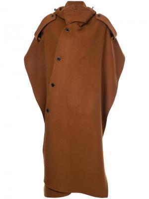 Пальто-кейп MSGM. Цвет: коричневый