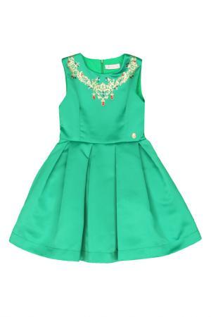 Платье STEFANIA. Цвет: зеленый