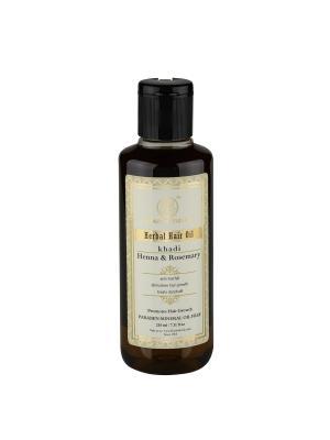 Масло для волос Хна и Розмарин - без парабенов минерального масла Khadi Natural. Цвет: черный