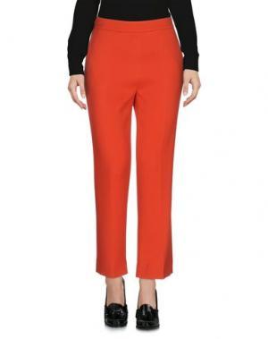 Повседневные брюки ODEEH. Цвет: ржаво-коричневый