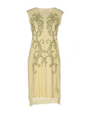 Короткое платье BRAND UNIQUE. Цвет: желтый