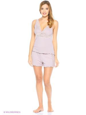 Пижама (шорты пижамные, майка) ASOLINDA. Цвет: лиловый
