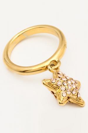 Кольцо NICE GIRL. Цвет: золотой