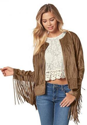 Куртка Bina ONLY. Цвет: коньячный
