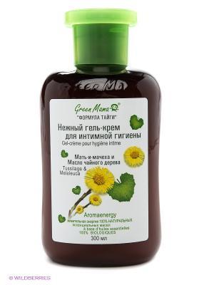 Нежный крем-гель для интимной гигиены Мать-и-мачеха и масло чайного дерева Green mama. Цвет: коричневый