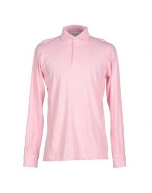 Поло ALAIN FRACASSÍ. Цвет: розовый