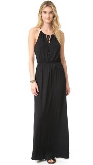 Макси-платье Bella Ella Moss. Цвет: голубой