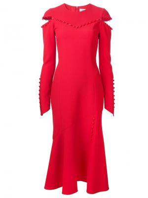 Платье с вырезами Prabal Gurung. Цвет: красный