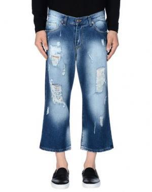 Джинсовые брюки-капри START UP. Цвет: синий