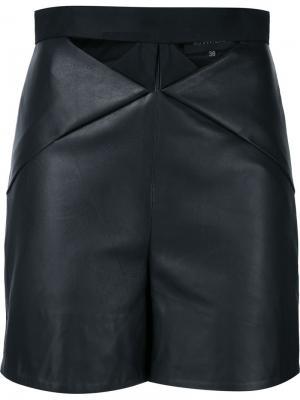 Кожаные шорты с вырезными деталями Iris Van Herpen. Цвет: чёрный