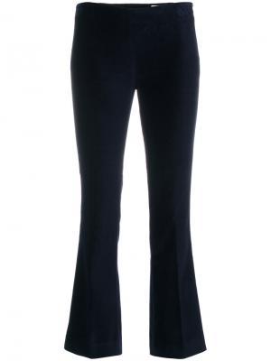 Укороченные расклешенные брюки Meme. Цвет: синий