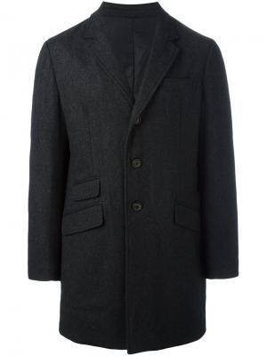Дутое пальто на пуговицах Aspesi. Цвет: серый