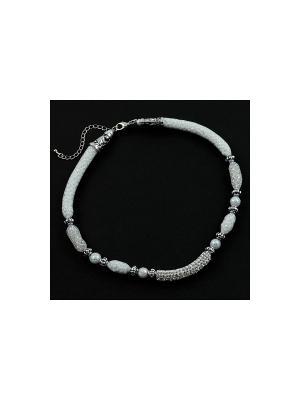 Дизайнерское ожерелье FOXTROT. Цвет: белый