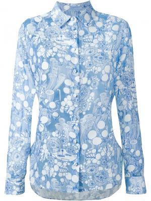 Рубашка с принтом подводных лодок Carven. Цвет: синий