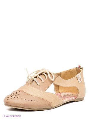 Туфли COOLWAY. Цвет: светло-коричневый, светло-бежевый