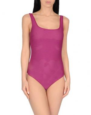 Слитный купальник FISICO. Цвет: пурпурный