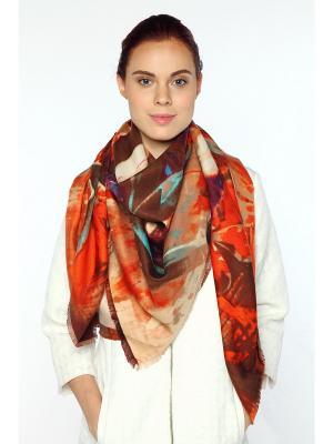 Платок Sophie Ramage. Цвет: коричневый, терракотовый