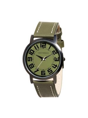 Часы Tokyobay Track Carbon Green. Цвет: зеленый
