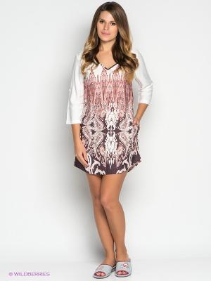 Платье PENYE MOOD. Цвет: темно-бордовый, белый