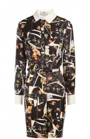 Платье с ремнем Erdem. Цвет: разноцветный