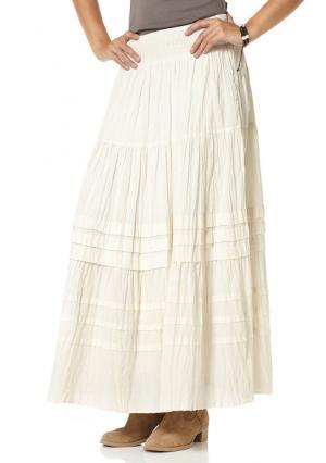 Многоярусная юбка BOYSENS BOYSEN'S. Цвет: цвет белой шерсти