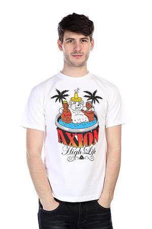 Футболка  Hot Tub Bear Tee White Axion. Цвет: белый