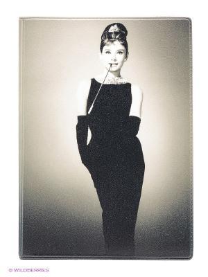 Обложка для автодокументов Одри в черном платье Mitya Veselkov. Цвет: бежевый, черный